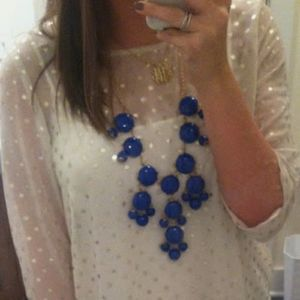 Dark blue bauble necklace *3for$25*